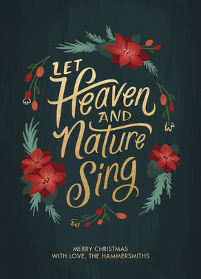 Let Heaven and Nature Sing - No Photo 5x7 Flat Card
