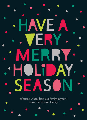 Merry Holiday Dots 5x7 Flat Card