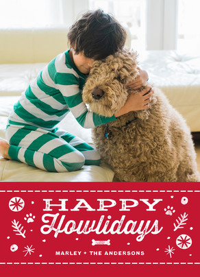 Happy Howlidays 5x7 Flat Card