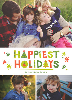 Happiest Holidays 5x7 Flat Card