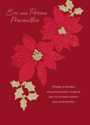Feliz Navidad - Poinsettias (Spanish) Christmas Card | Cardstore