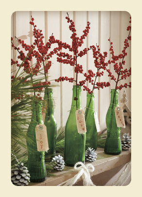 Holiday Bottles 5x7 Folded Card