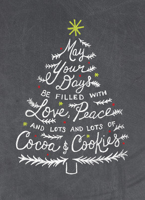 Lots of Cocoa & Cookies - No Photo 5x7 Folded Card