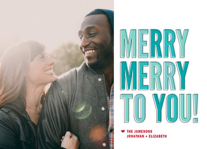 Merry Merry to You! 7x5 Flat Card