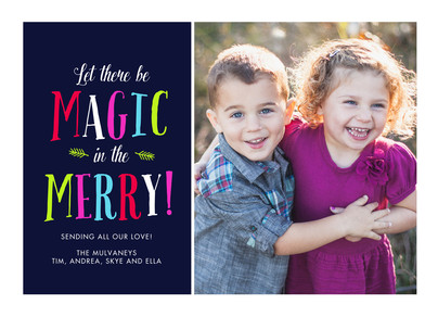 Magic In the Merry 7x5 Flat Card