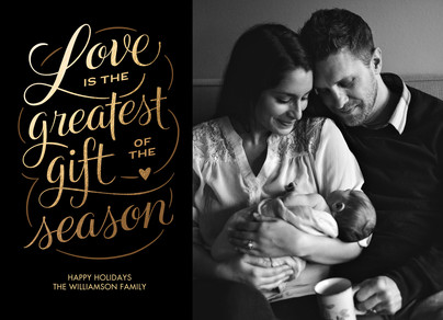 The Greatest Gift of the Season 7x5 Flat Card