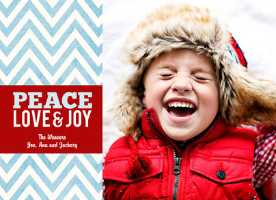 Peace Love and Joy 7x5 Postcard
