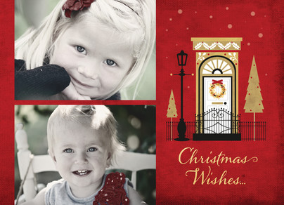 Christmas Wishes Home 7x5 Postcard