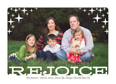 stars rejoice overlay 7x5 Postcard