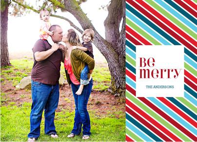 Bright Merry Stripe 7x5 Postcard