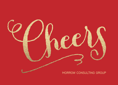Gold Cheers 7x5 Flat Card