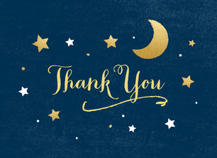 To the Moon and Back - Thank You 5.25x3.75 Folded Card