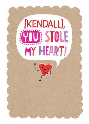 Heart Burglar 5x7 Folded Card