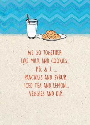 Milk & Cookies 5x7 Folded Card
