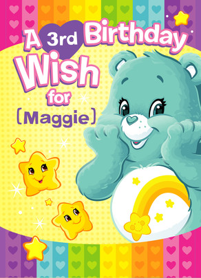 Care Bears - Birthday Wish 5x7 Folded Card