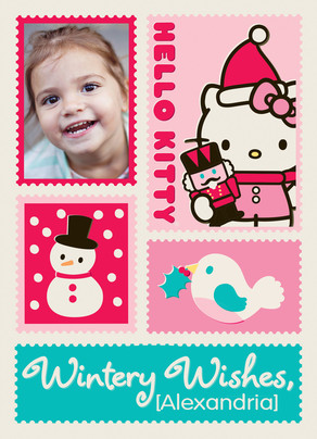 Hello Kitty - Wintery Wishes 5x7 Folded Card