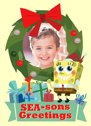 SpongeBob - SEA-sons Greetings 5x7 Folded Card