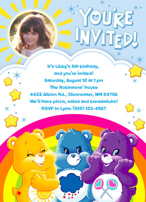 Care Bears - Invitation with Sunshine 5x7 Flat Card