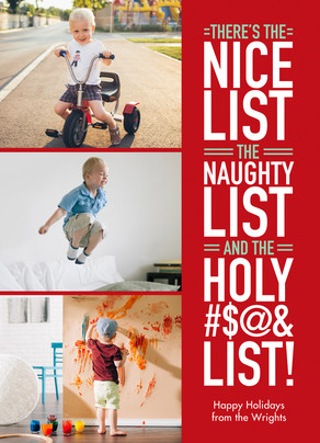 Christmas Lists 5x7 Flat Card