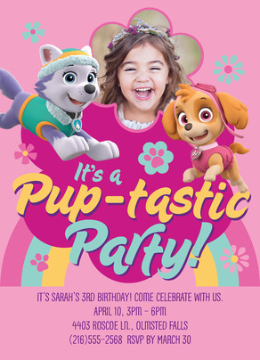 Paw Patrol - Pup-tastic Party Invite 5x7 Flat Card