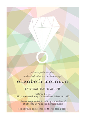 Geo Shapes  Bridal Shower Invitation 5x7 Flat Card