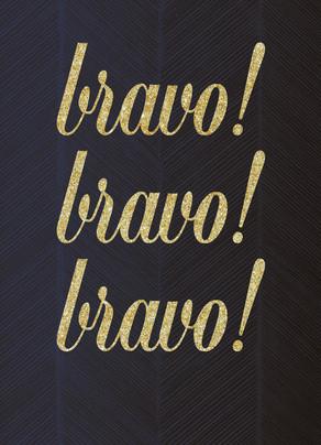 Foil Look Bravo Congrats Card 5x7 Folded Card