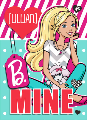 Barbie B. Mine Valentine Card 5x7 Folded Card