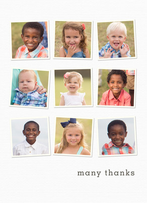 9 Photo Custom Thank You Card 5x7 Folded Card
