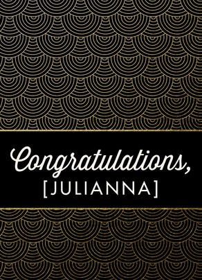 Gold Pattern Custom Congratulations Card 5x7 Folded Card
