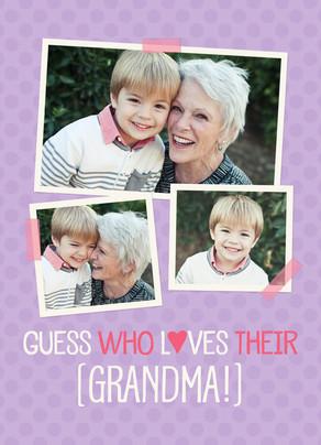 Guess Who Grandma Card 5x7 Folded Card