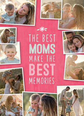Best Moms, Best Memories Mother's Day Card 5x7 Folded Card