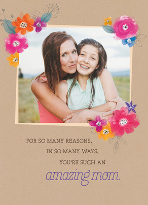 Amazing Mom Mother's Day Card 5x7 Folded Card