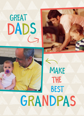 Great Dad, Best Grandpa Father's Day Card 5x7 Folded Card