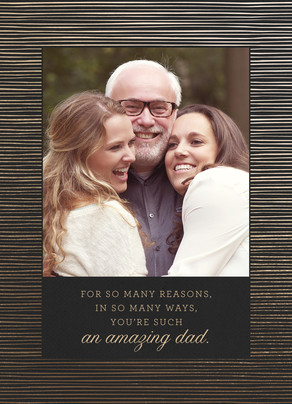 Amazing Dad Father's Day Card 5x7 Folded Card