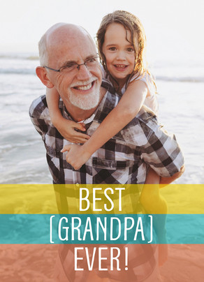 Best Grandpa Ever Photo Card 5x7 Folded Card