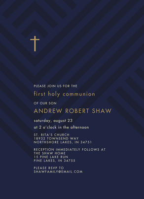 CYO Cross Invitation 5x7 Flat Card