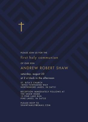 CYO Cross Invitation 5x7 Flat Card