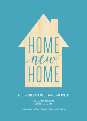 Home New Home - Moving Announcement 5x7 Flat Card
