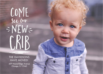 New Crib - Moving Announcement 7x5 Flat Card