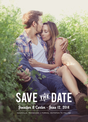 Save the Date Photo Card - Wood  Grain 5x7 Flat Card