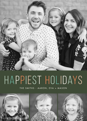Happiest Holiday Photo Card 5x7 Flat Card