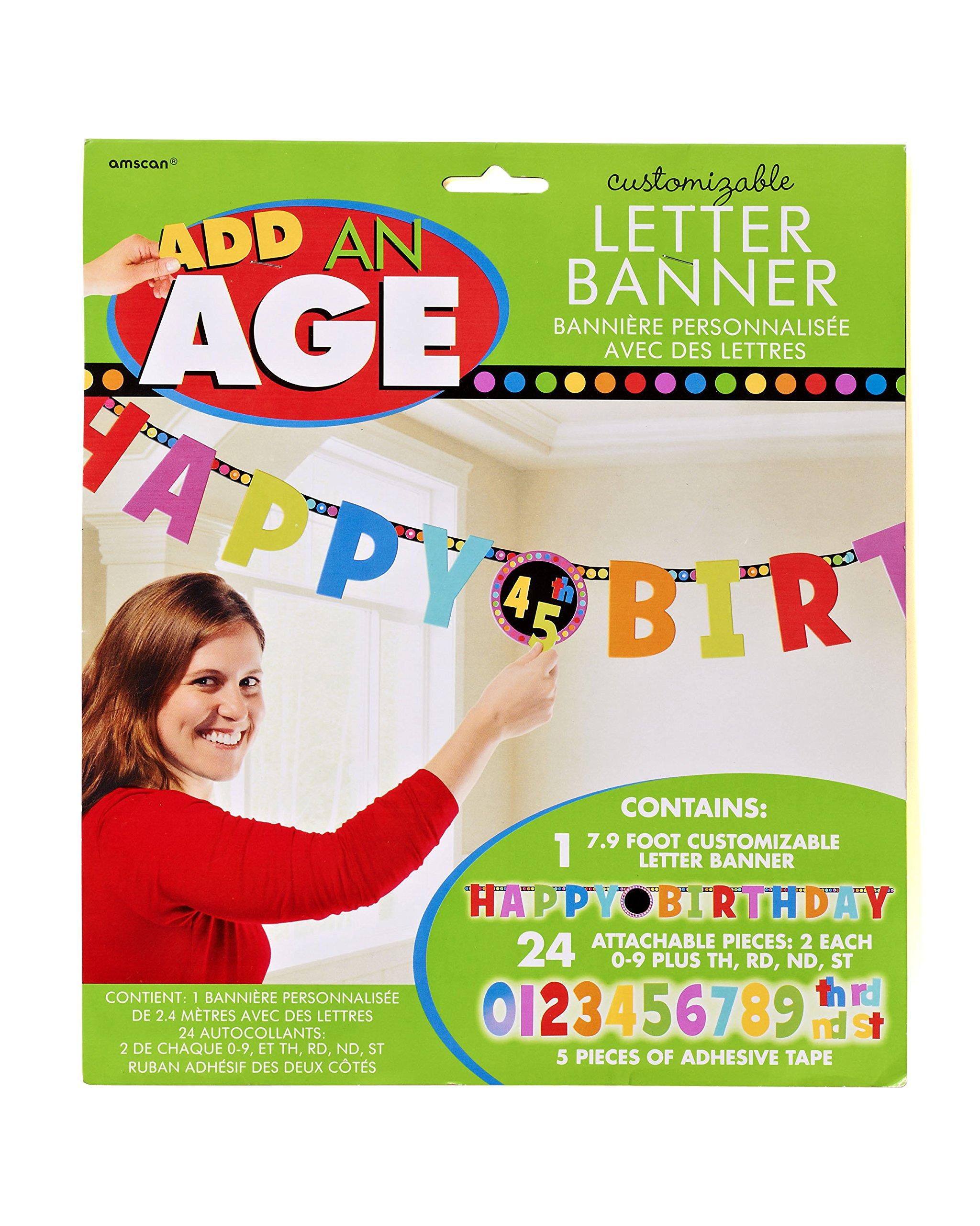 Dots & Stripes Birthday Banner